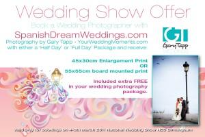 National Wedding Show Voucher March 2011 NEC Birmingham