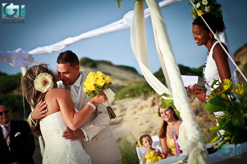 Beach wedding in chiclana cadiz, spain