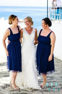 Bride and Bridesmaids and a wedding in Nerja