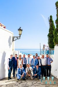 Group photo at a wedding in Nerja