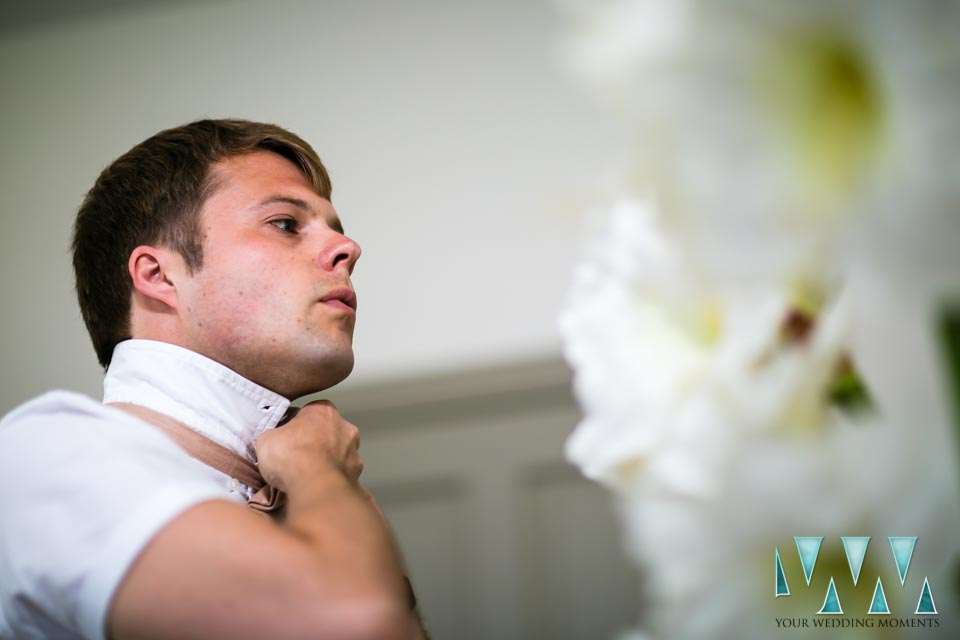 Finca Villa Palma Wedding groom preparations
