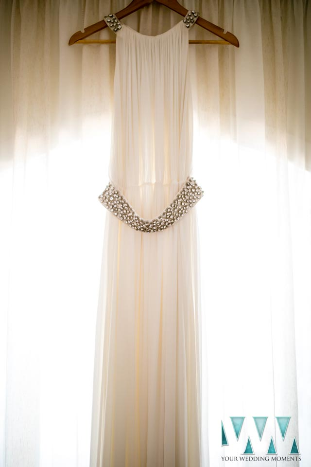 Finca Villa Palma Wedding wedding dress hanging