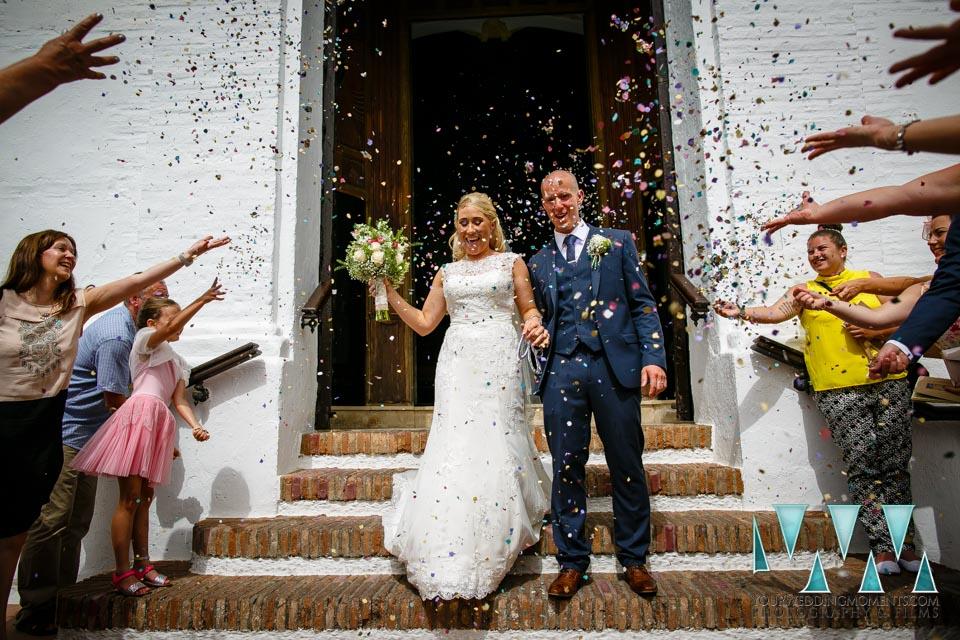 Outside Frigiliana Wedding Photographer