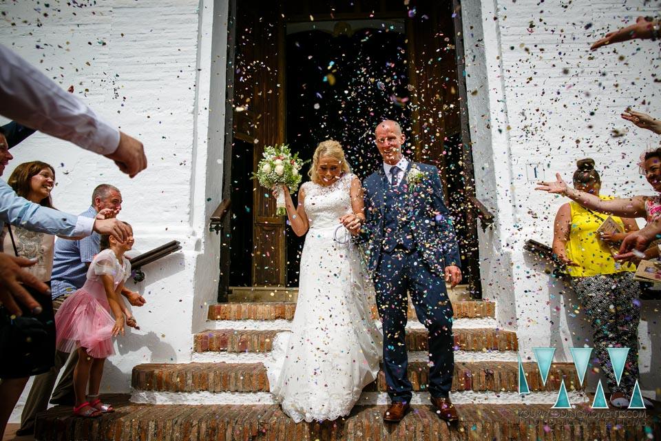 Frigiliana Wedding Photographer Confetti