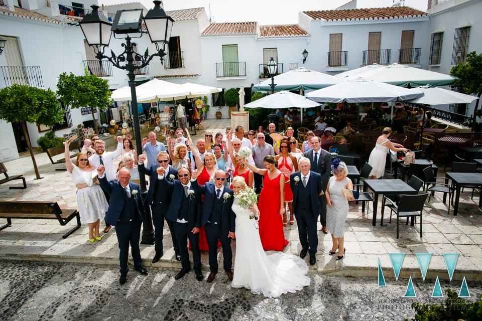 Wedding Photography Frigiliana group shot