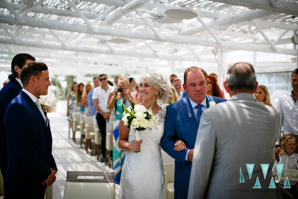 Wedding Ceremony Father and Bride Photography El Oceano Hotel