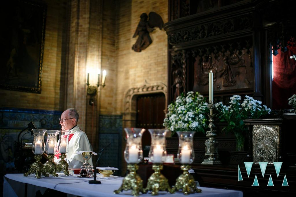 Church ceremony wedding photography Seville
