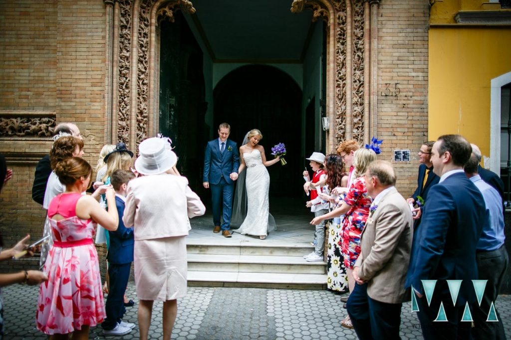 Wedding Photography just married seville