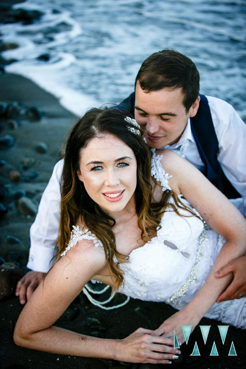 Trash The Dress photoshoot on the beach
