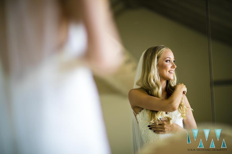 Villa Cisne wedding happy bride