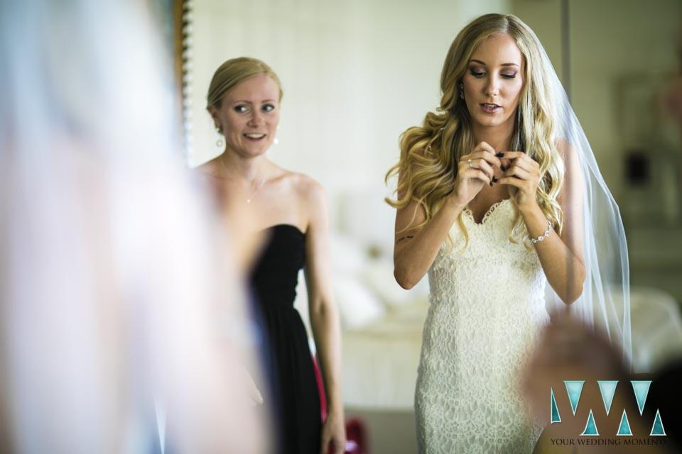 Villa Cisne wedding bride final prperatrions