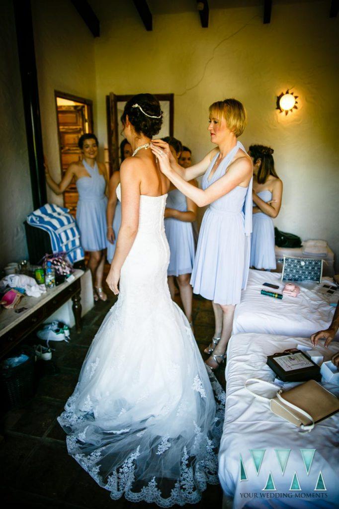 Rancho Del Ingles Wedding last minute dress details