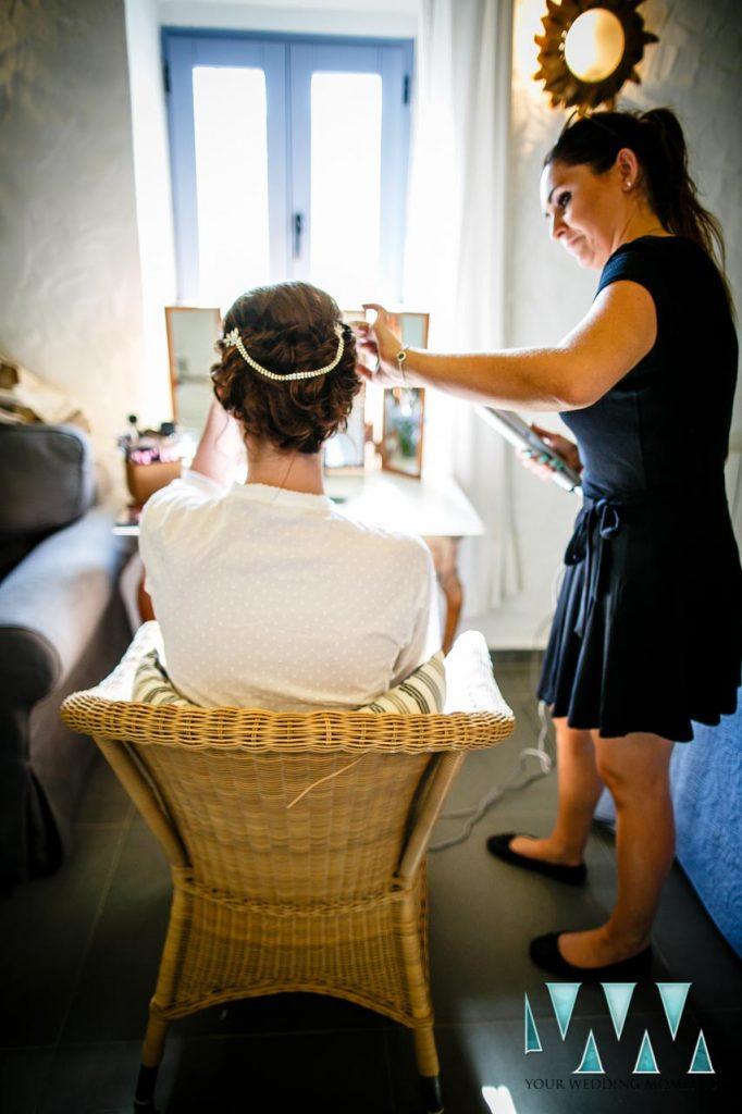 Rancho Del Ingles Wedding bride getting ready