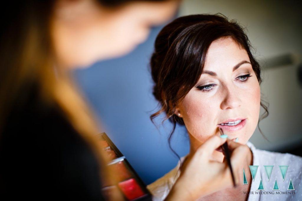 Rancho Del Ingles Wedding bridal makeup last touches