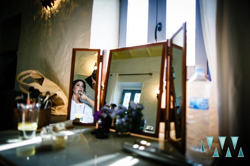 Rancho Del Ingles Wedding bridal lipstick