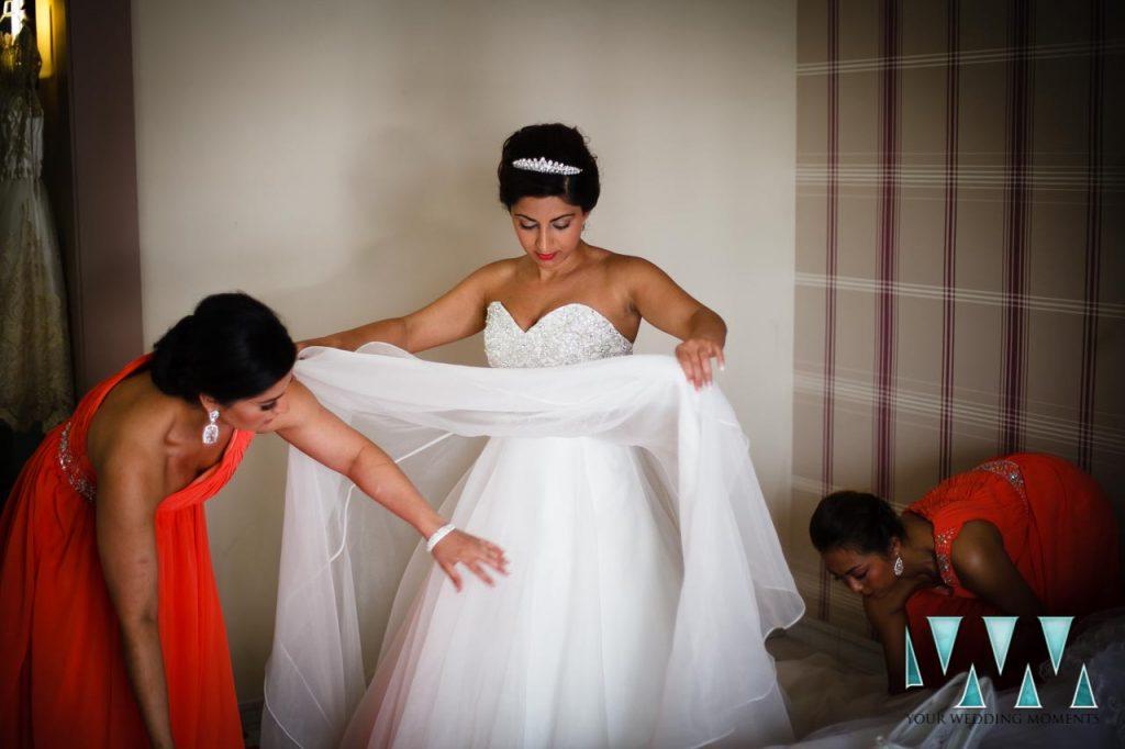 Finca La Concepcion wedding dress preperations