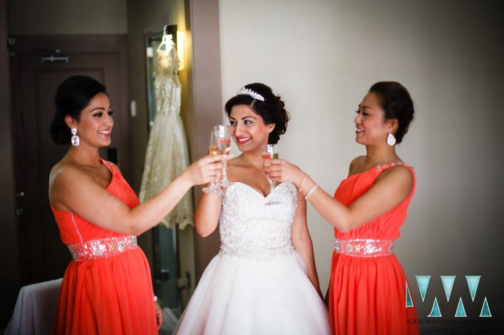 Finca La Concepcion wedding bride and bridesmaids