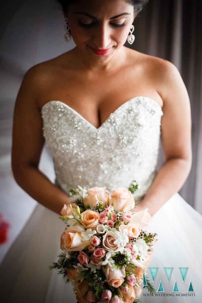 Finca La Concepcion wedding bride and bouquet