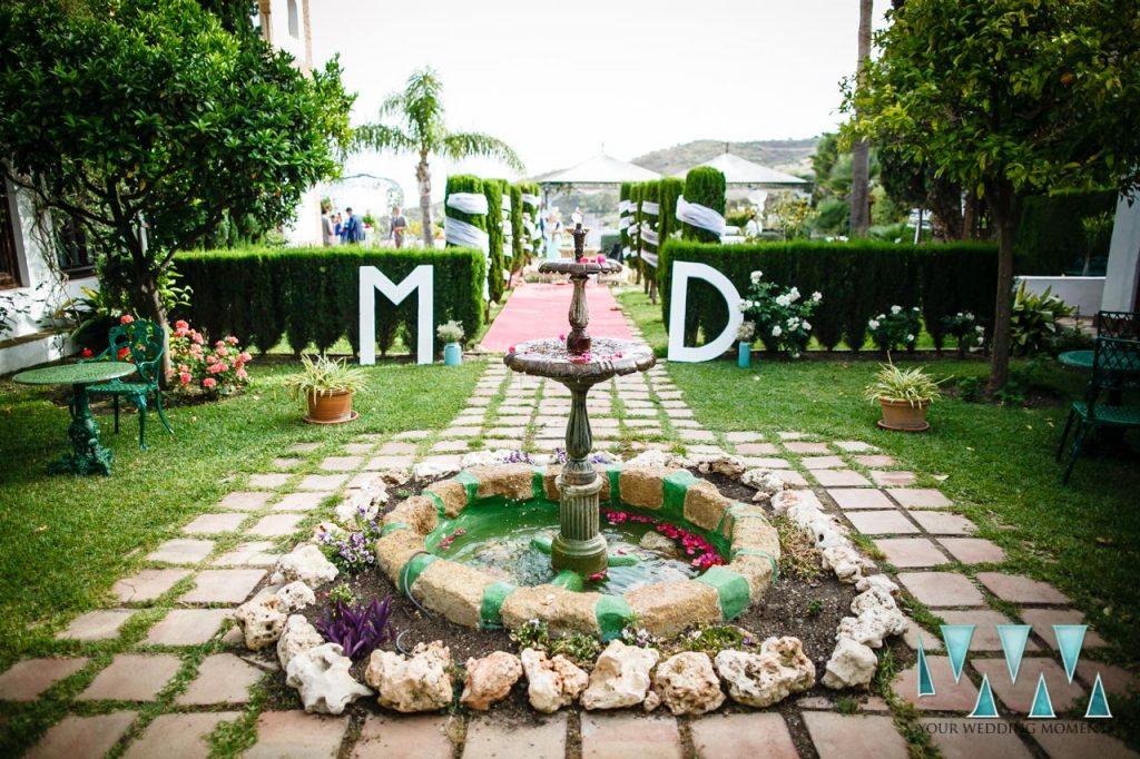Molino de Santillan wedding garden entrance
