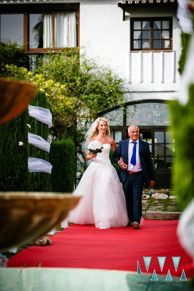 Molino de Santillan wedding bride with father