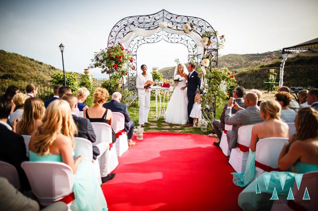 Molino de Santillan wedding ceremony