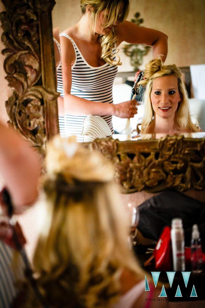 Molino de Santillan wedding hair and makeup