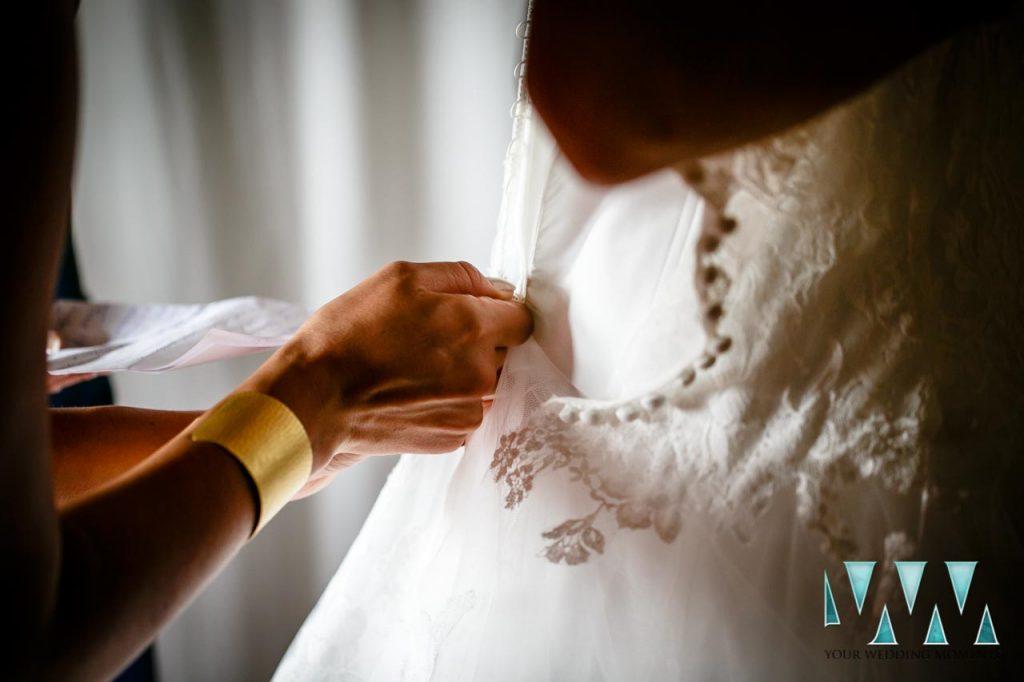 Molino de Santillan wedding dress preperations