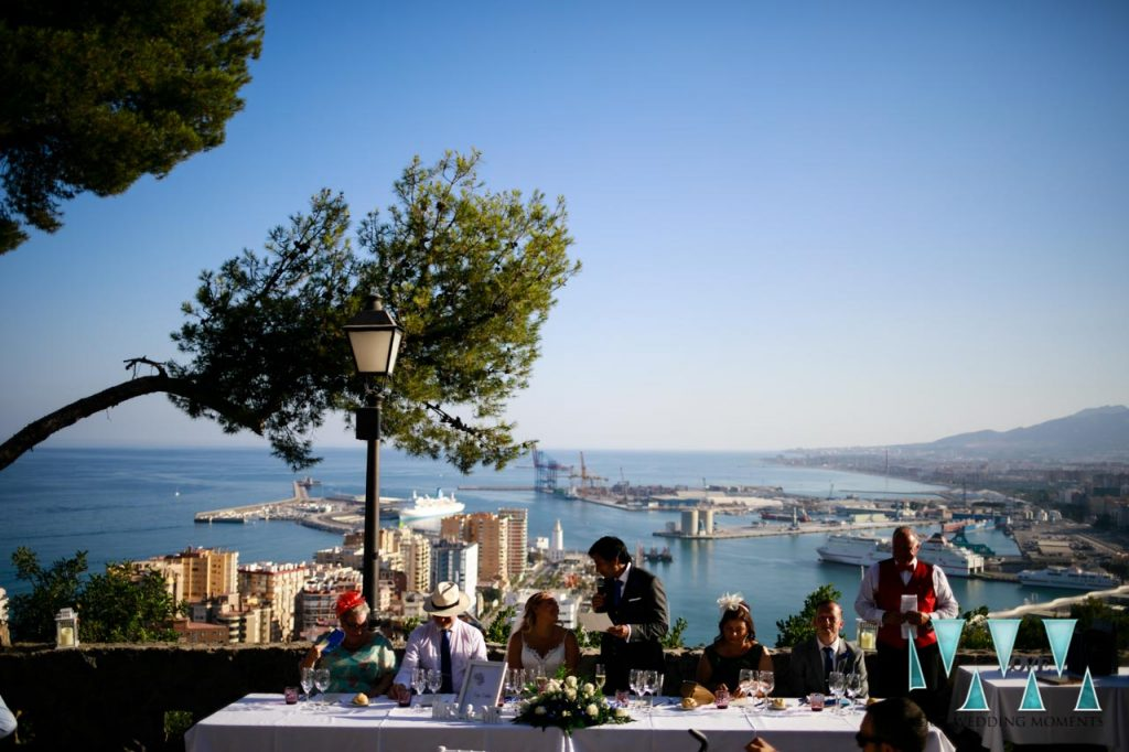 Parador De Gibralfaro wedding venue views over Malaga