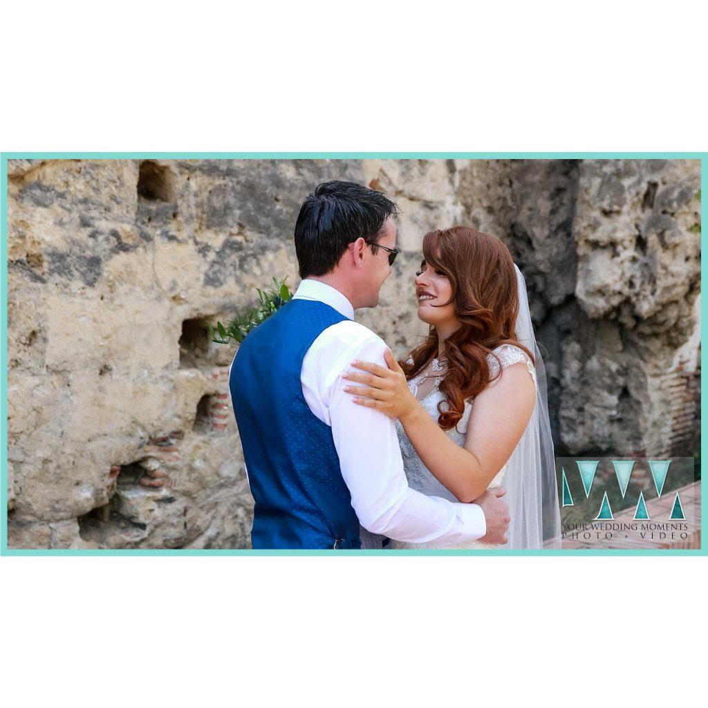 wedding in Spain first look