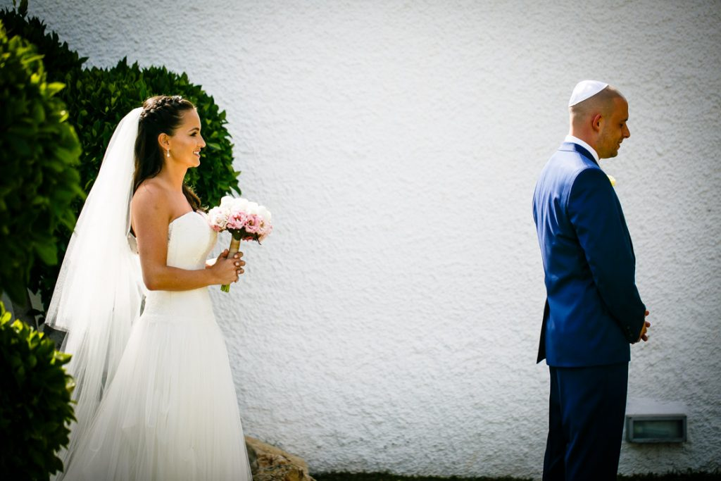 wedding first look marbella spain