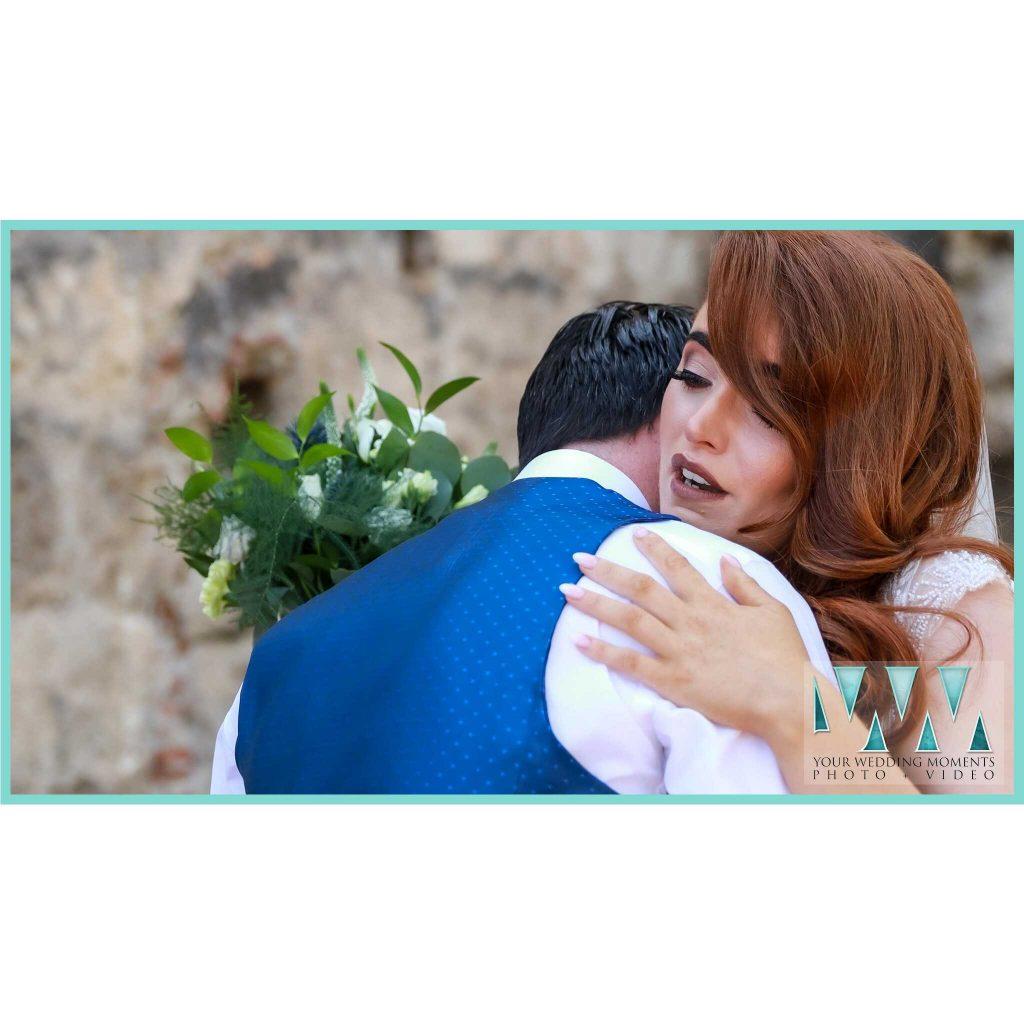 wedding first look spain nerja bride groom