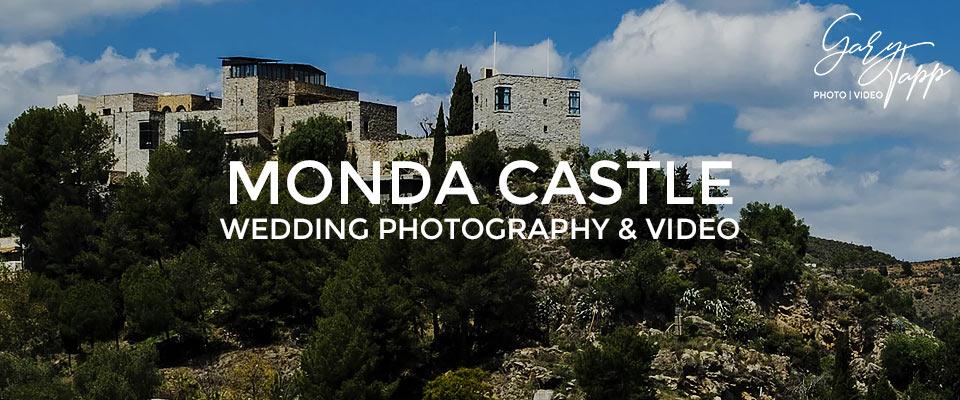 Mountain view of the Monda Castle wedding venue in Ojen, Marbella