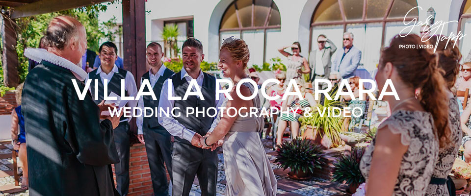 Ceremony at the Villa La Roca Rara wedding venue nerja near Frigiliana