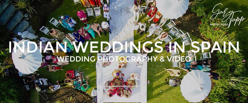 Professional wedding photography in Indian Weddings Marbella, Spain